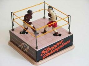 Blechspielzeug - Boxring mit 2 Boxern