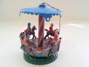 Blechspielzeug - Deko Karussell mit Pferden