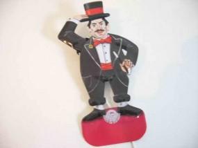 Blechspielzeug - Grußmännchen Zirkusdirektor D