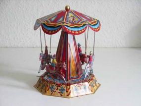 Blechspielzeug - Karussell Pferdekarussell D