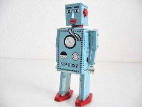 Blechspielzeug - Roboter Lilliput blau