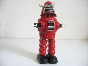 Blechspielzeug - Roboter, Planet Robot rot