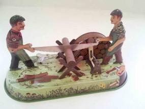 Blechspielzeug - Waldarbeiter BRD